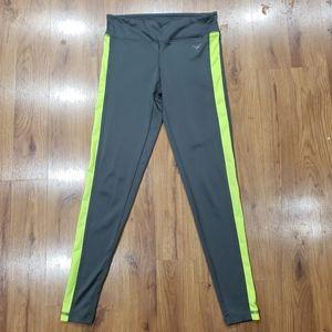 Live Love Dream Neon green & gray leggings